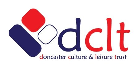 A company logo which says dclt, doncaster culture & leisure trust.