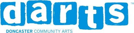 A company logo which says darts (Doncaster Community Arts).