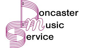 A company logo which says Doncaster Music Service
